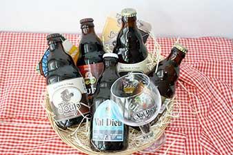 Panier 9 bières régionales et 2 verres